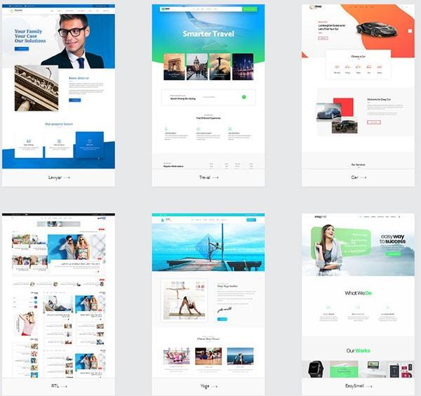 deep theme templates