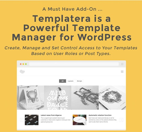 template manager for wpbakery
