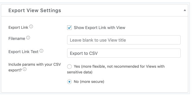 wordpress form export to csv