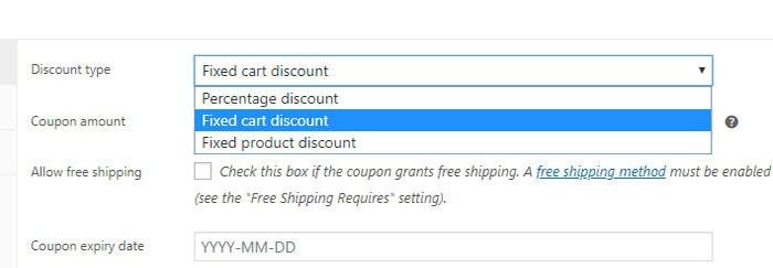 coupon discount type