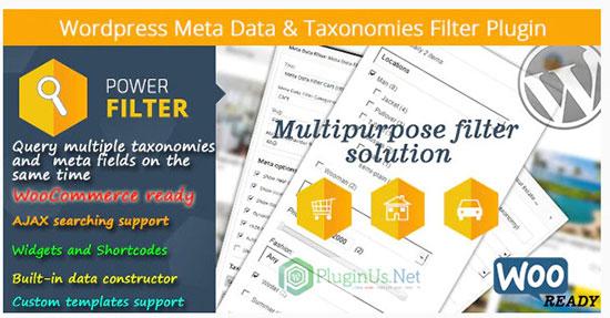 woocommerce Meta Data and Taxonomies Filter