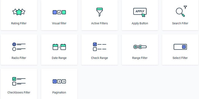 woocommerce product filter elementor