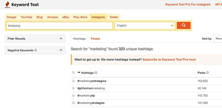 instagram keyword research tool