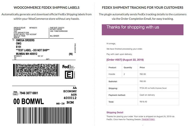 WooCommerce FedEx Shipping Plugin print label