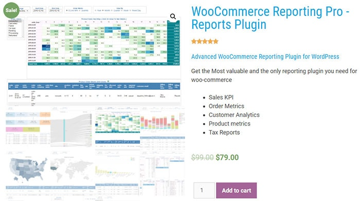 WooCommerce Reporting Pro price