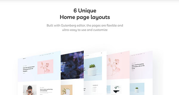 gutenberry home page layouts