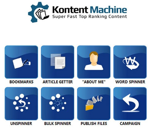 kontent machine tools menu