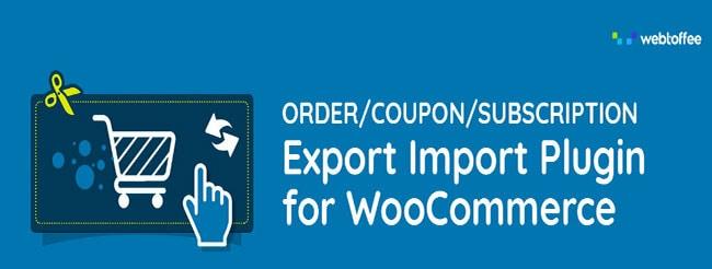 Order Export Order Import for WooCommerce