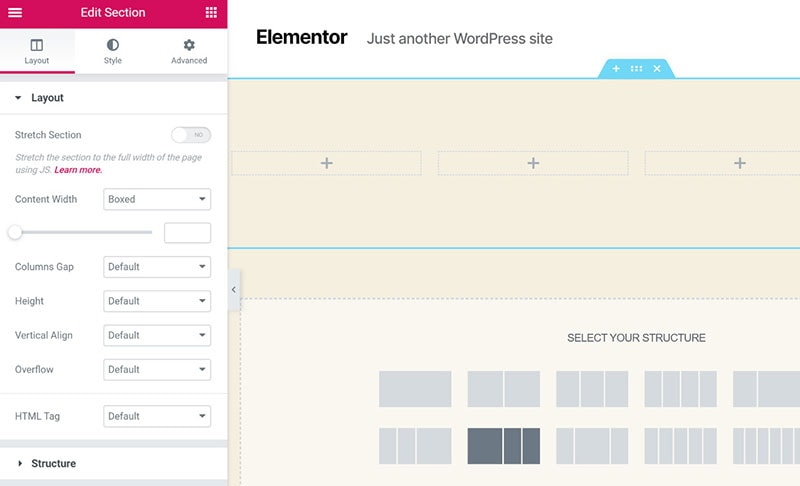 Elementor frontend editor example