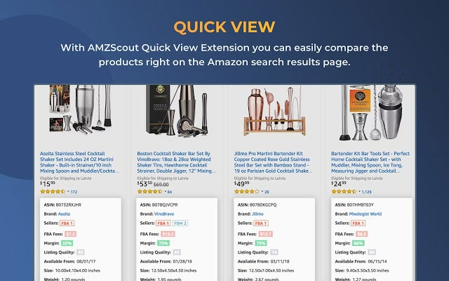 amazon quick view by amzscout
