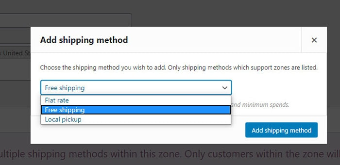 how to add shipping method woocommerce