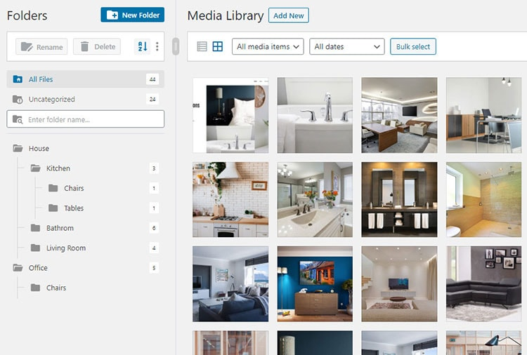 FileBird is media library plugin for WordPress for creating and managing folders.