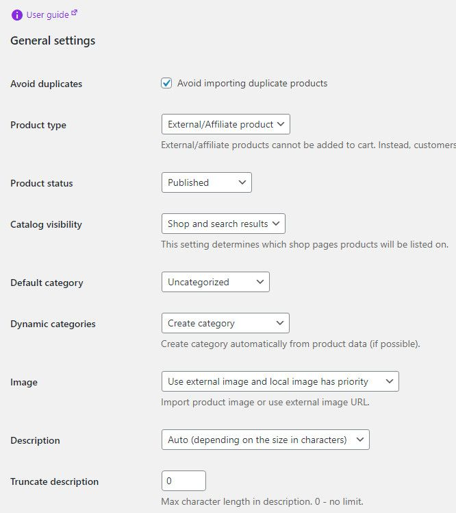 WooCommerce product scraper plugin for importing product data from various ecommerce sites.