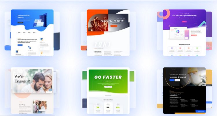 There are many available Divi premade templates to choose from.