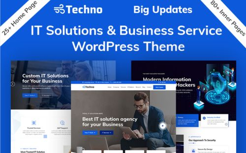 Techno - IT Solutions & Business Consulting WordPress Theme.