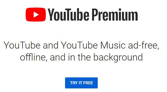 YouTube Premium offers ad free experience.