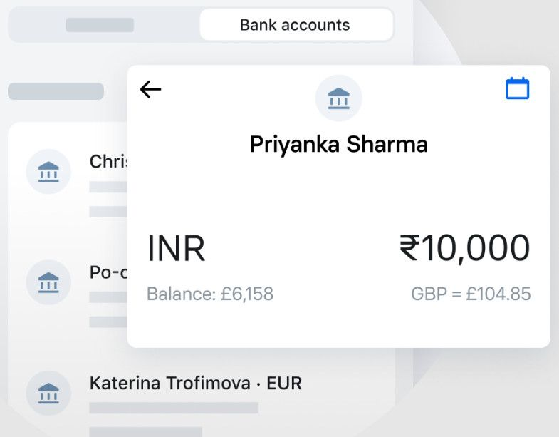 Revolut money transfer.