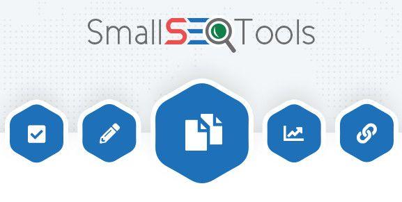 Small SEO Tools plagiarism checker.