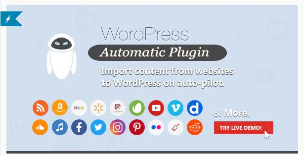 Wordpress Automatic Plugin posts from almost any website to WordPress automatically.