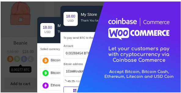 Coinbase Commerce for WooCommerce.