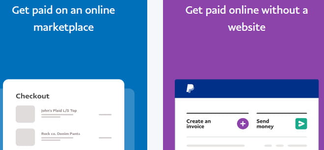 PayPal business account features.