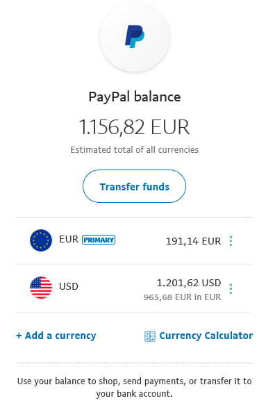 You can hold balance in various currency.