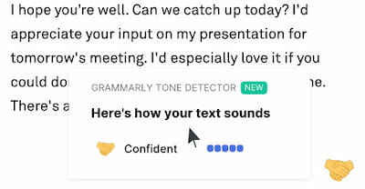 Grammarly tone detector feature.