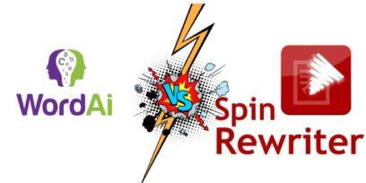 WordAi vs Spin Rewriter comparison.