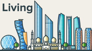 Places To Live In Abu Dhabi illustration