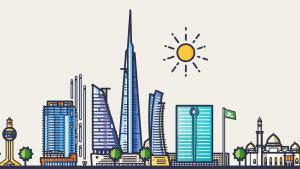 Saudi Arabia illustration of Jeddah of
