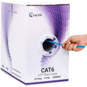 cat6 riser 1000ft Blue