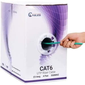 cat6 riser 1000ft Green