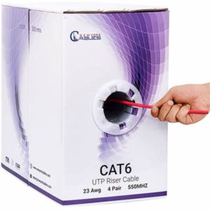 cat6 riser 1000ft Red