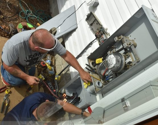 Electrical Work on Solar Installation Project
