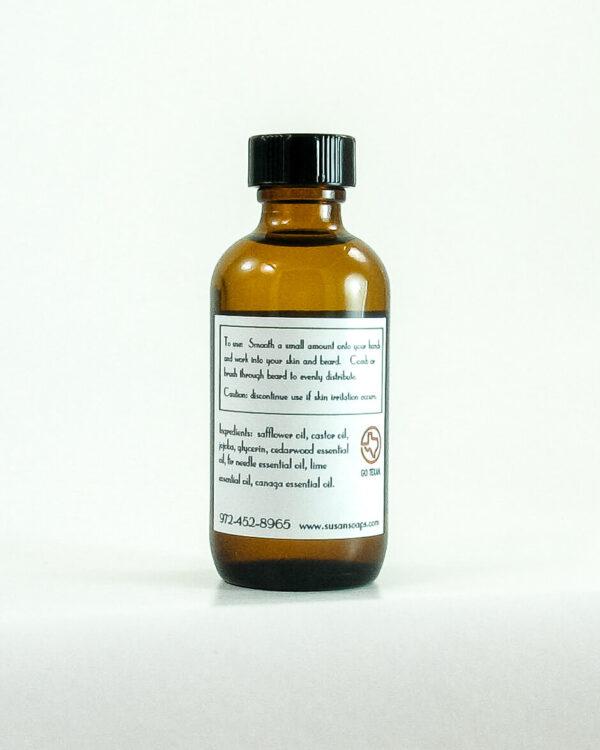 Beard Oil Back Label - Corey's Choice