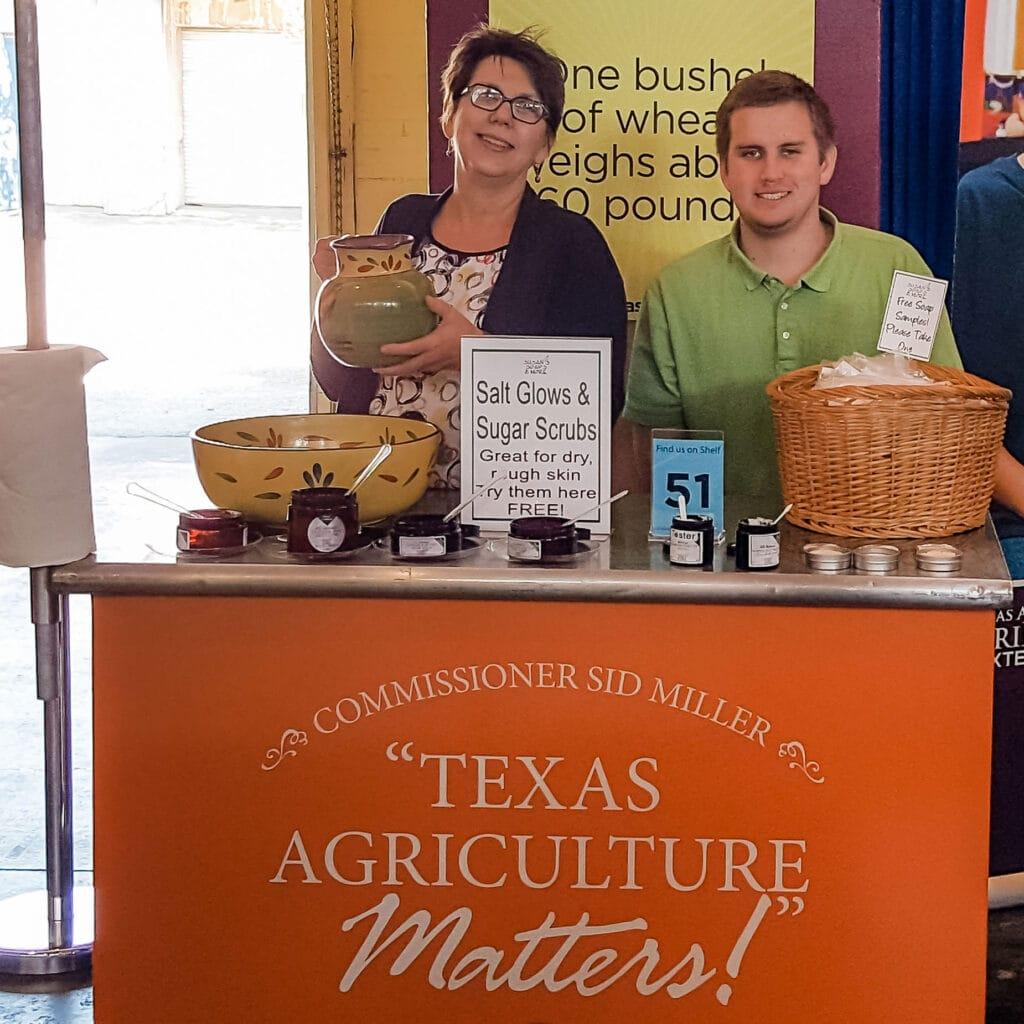 Susan and Andrew sampling at the State Fair of Texas