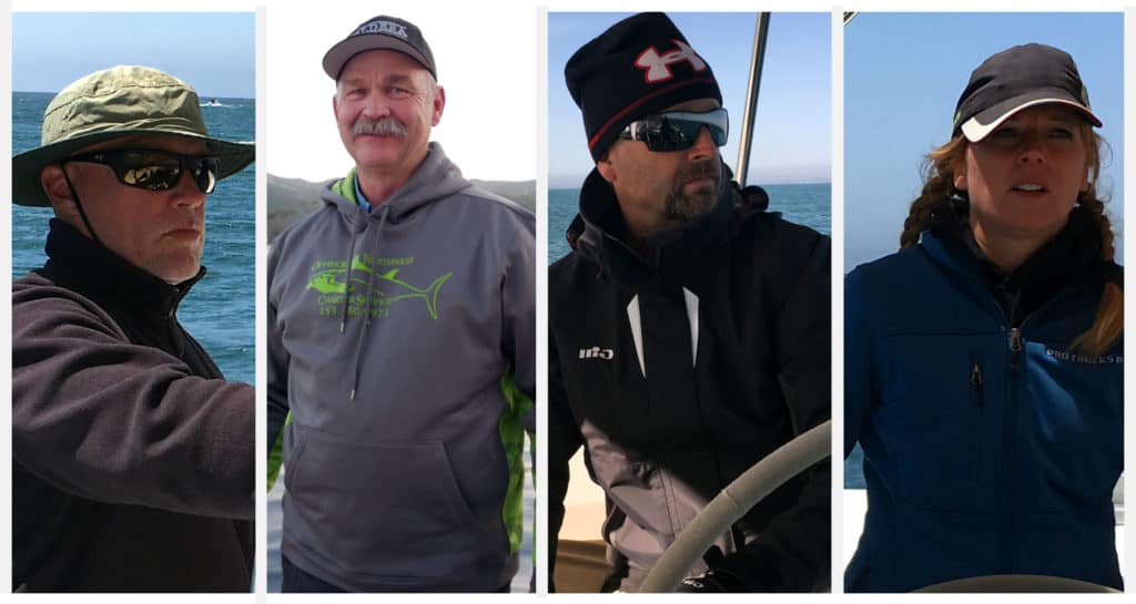Four side by side pictures of the crew