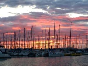 Port Mimines sunset