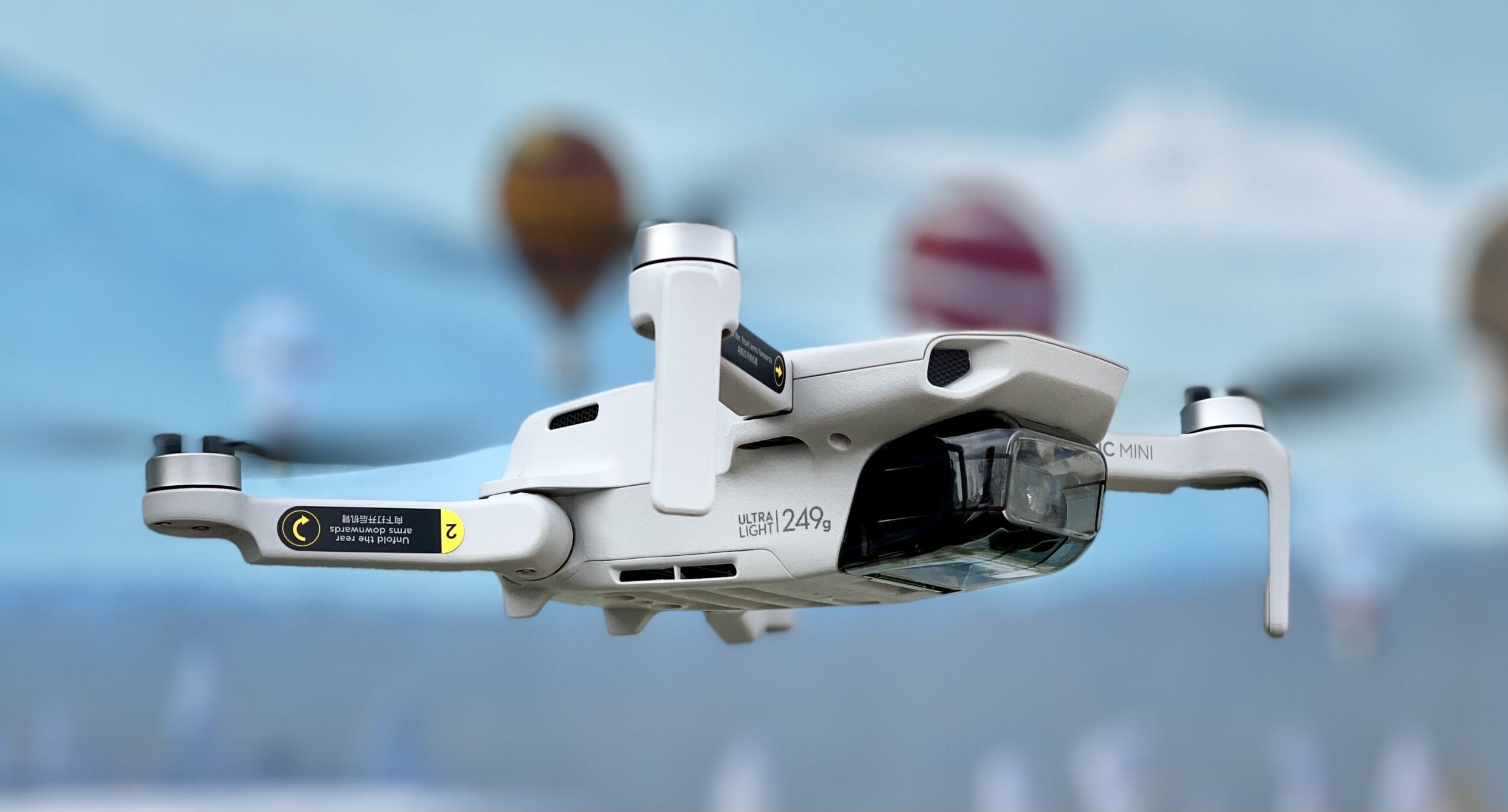 Drone in flight with Camera Video