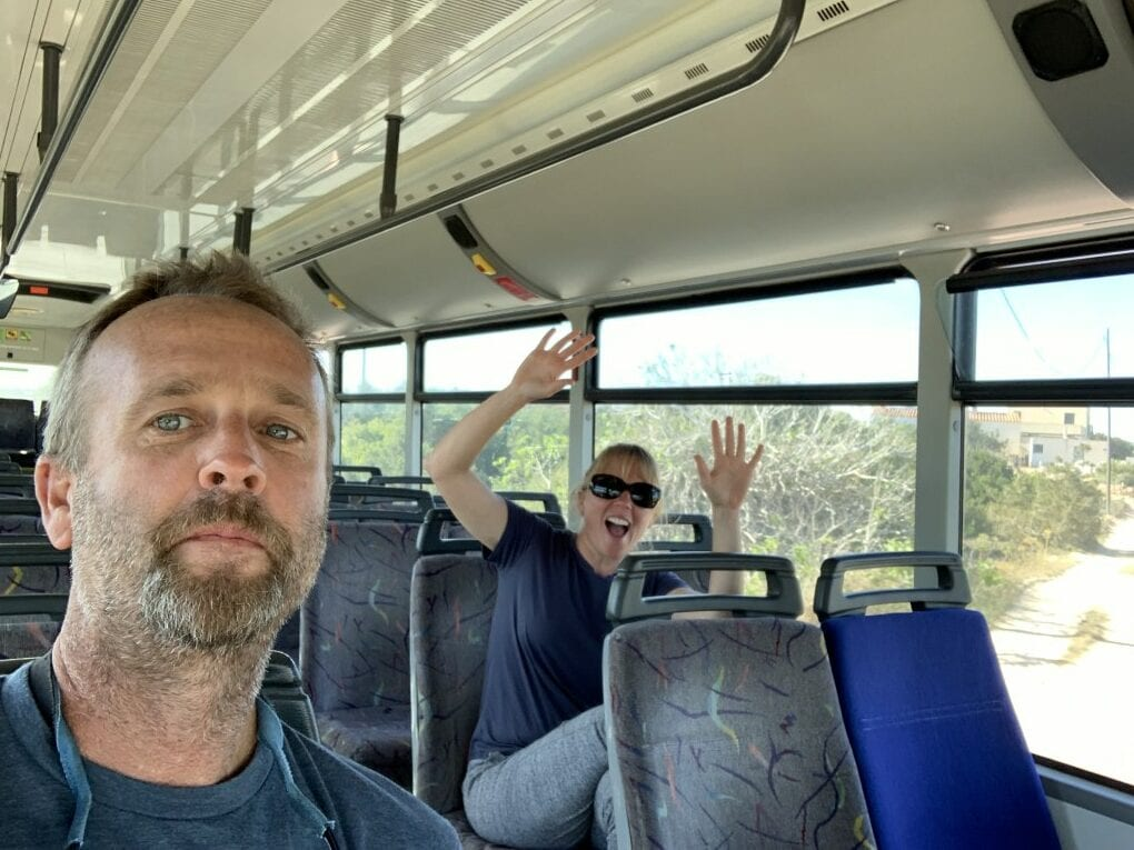 Matt and I in the bus