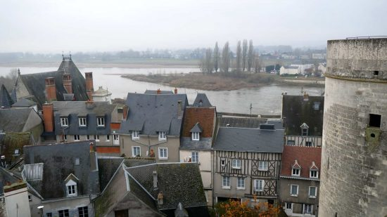 Overlooking Amboise and Loire River