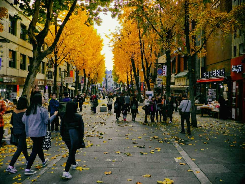 Autumn in Insadong, Seoul, Korea