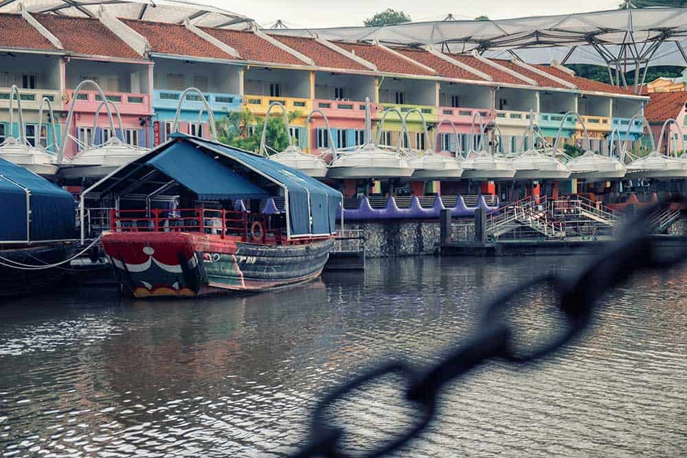 Boat on Singapore River in Clarke Quay
