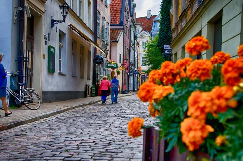 Colourful Alleyway in Riga, Latvia
