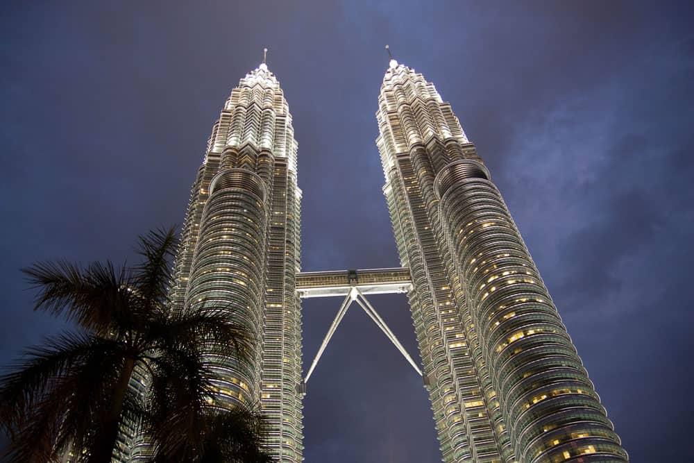 Evening at the Petrona Towers in Kuala Lumpur