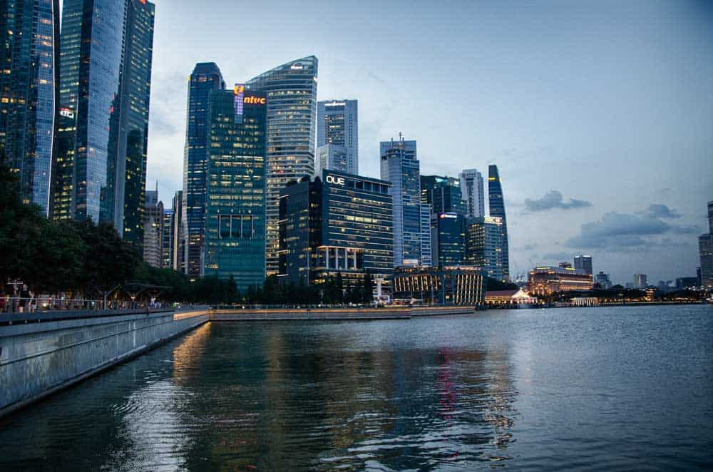 Evening Skyline Marina Bay