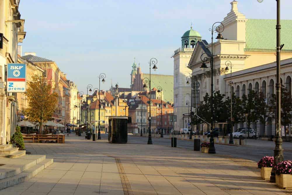Krakowskie Przedmiescie in Warsaw