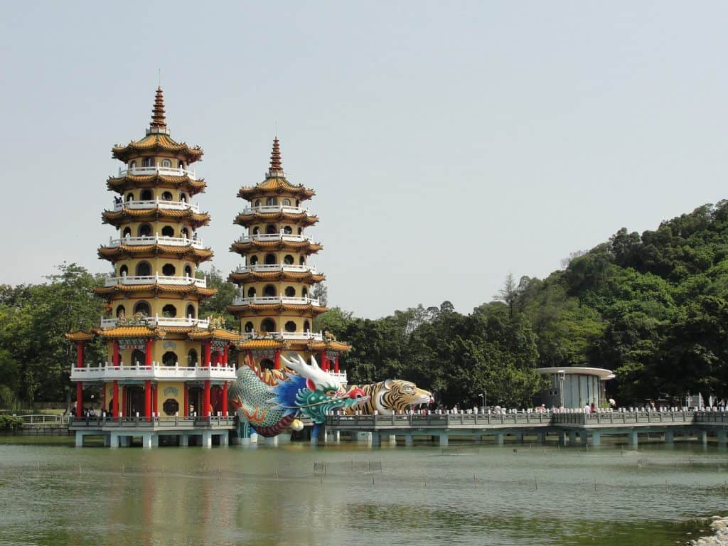 Lotus Pond in Kaohsiung, Taiwan