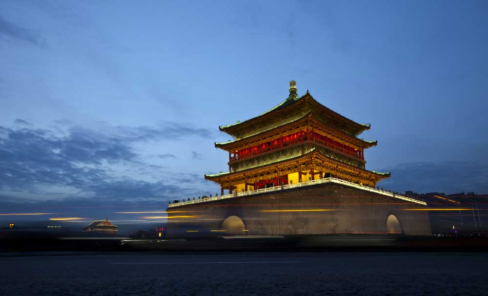 Night @ Bell Tower in Xi'an, China