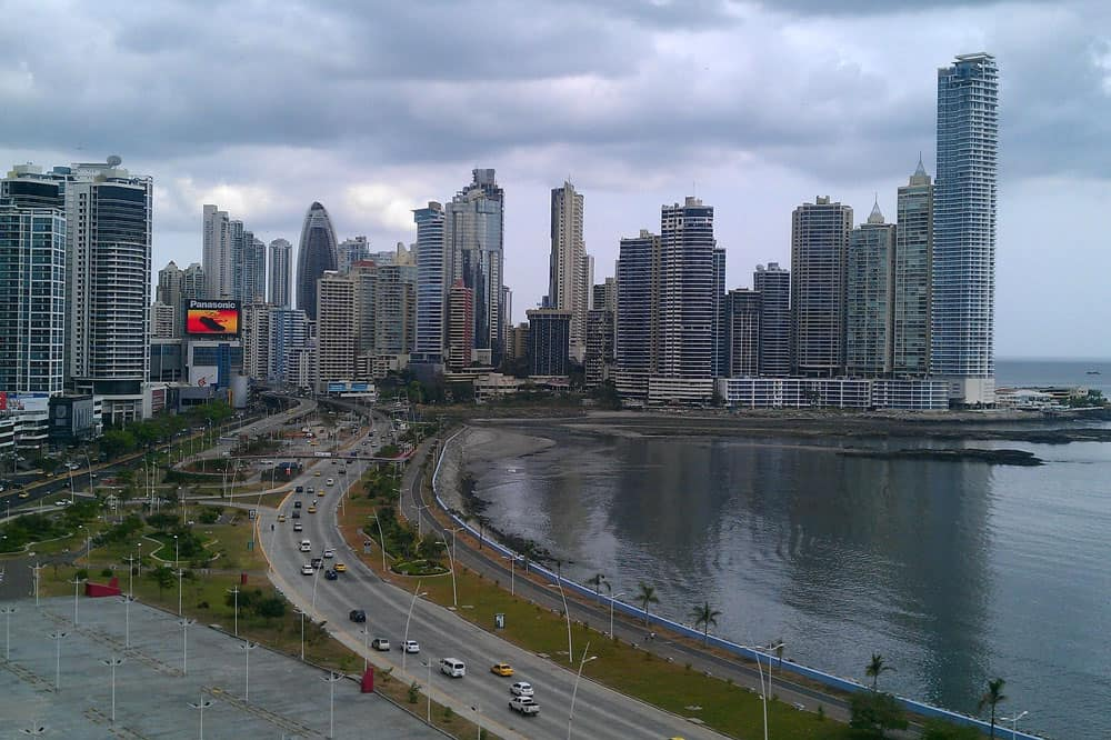 Panama City Skyline and Panama Bay
